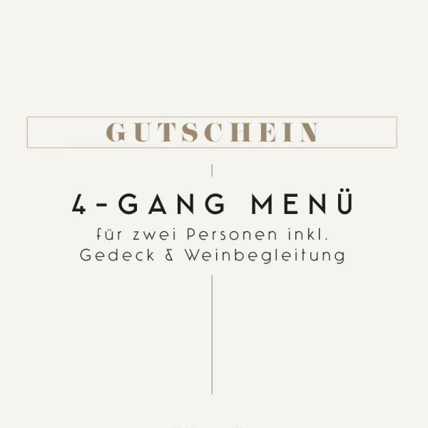 Gutschein Meierei 4-Gang Menü mit Weinbegleitung