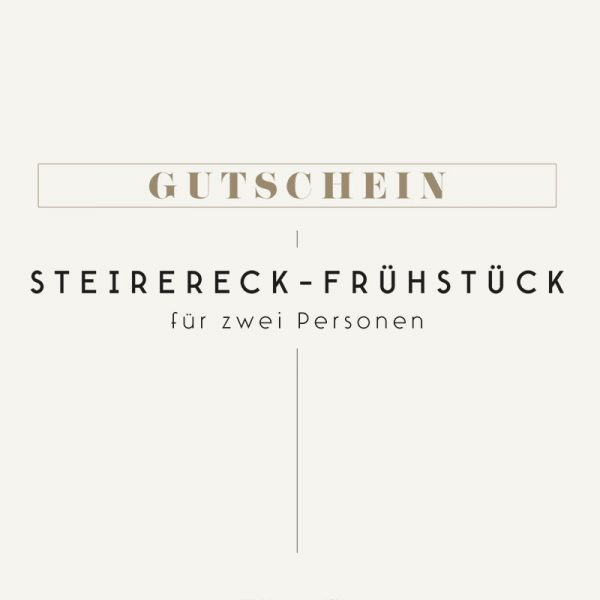 Gutschein Meierei - Steirereck Frühstueck