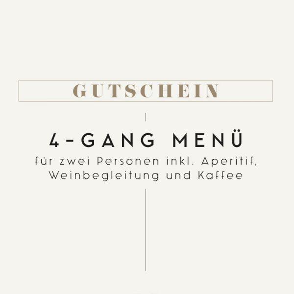Gutschein Pogusch 4-Gang Menü mit Weinbegleitung
