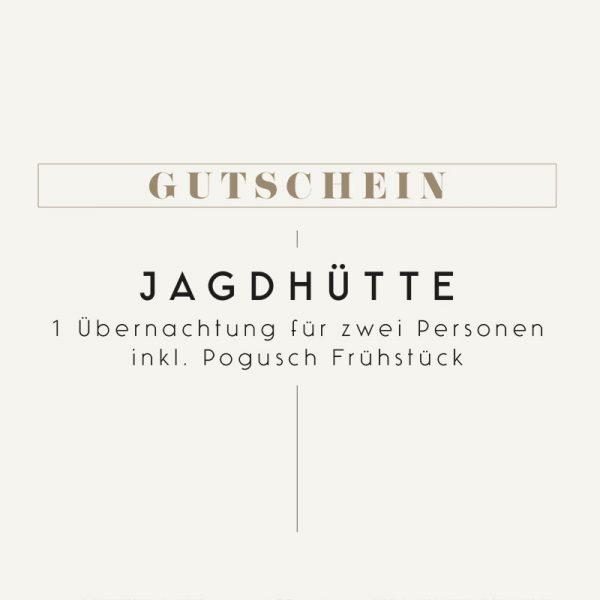 Gutschein Pogusch Übernachtung Jagdhütte